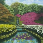 novus art landscape with pond john warren