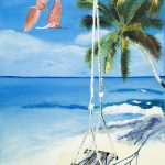 novus art tropical scene sue hooper