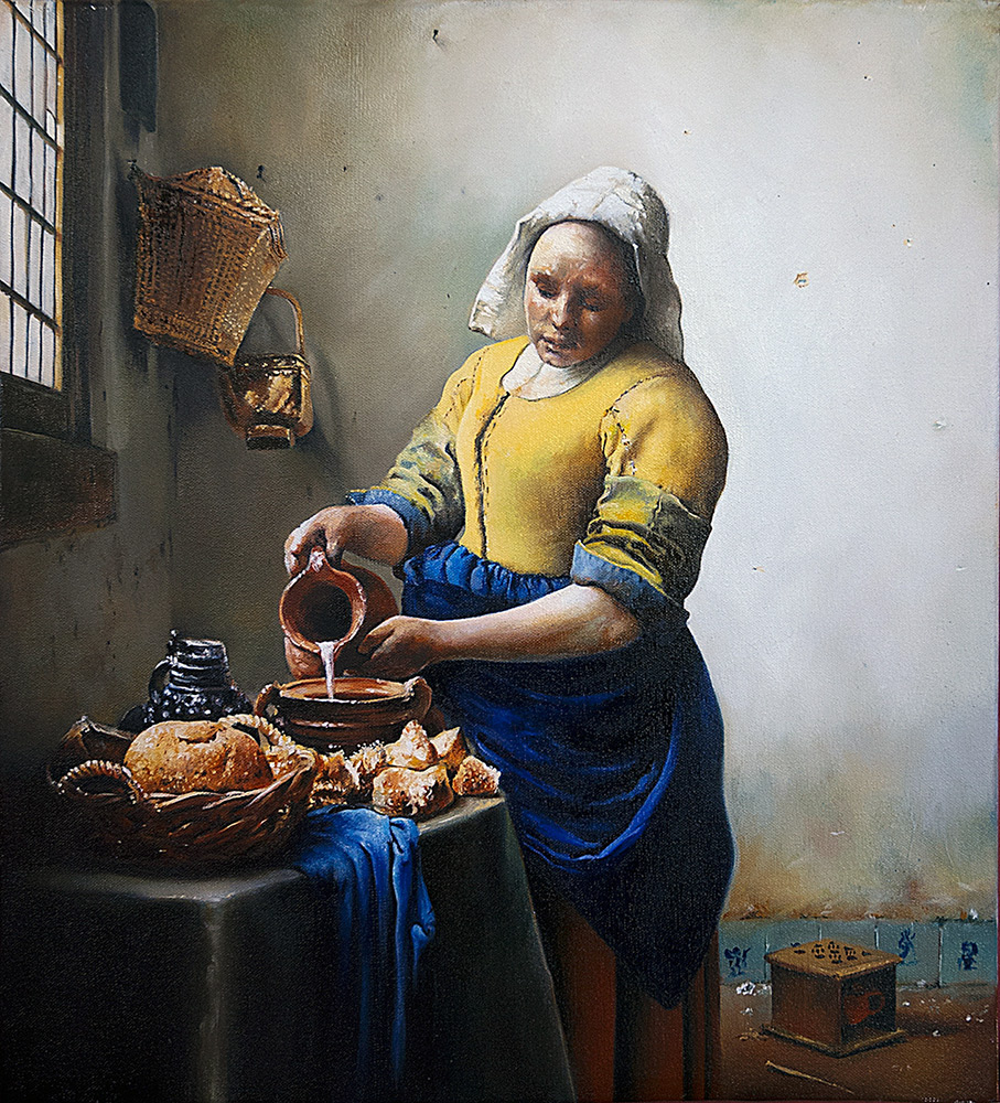 dan greencopy of vermeer milkmaid