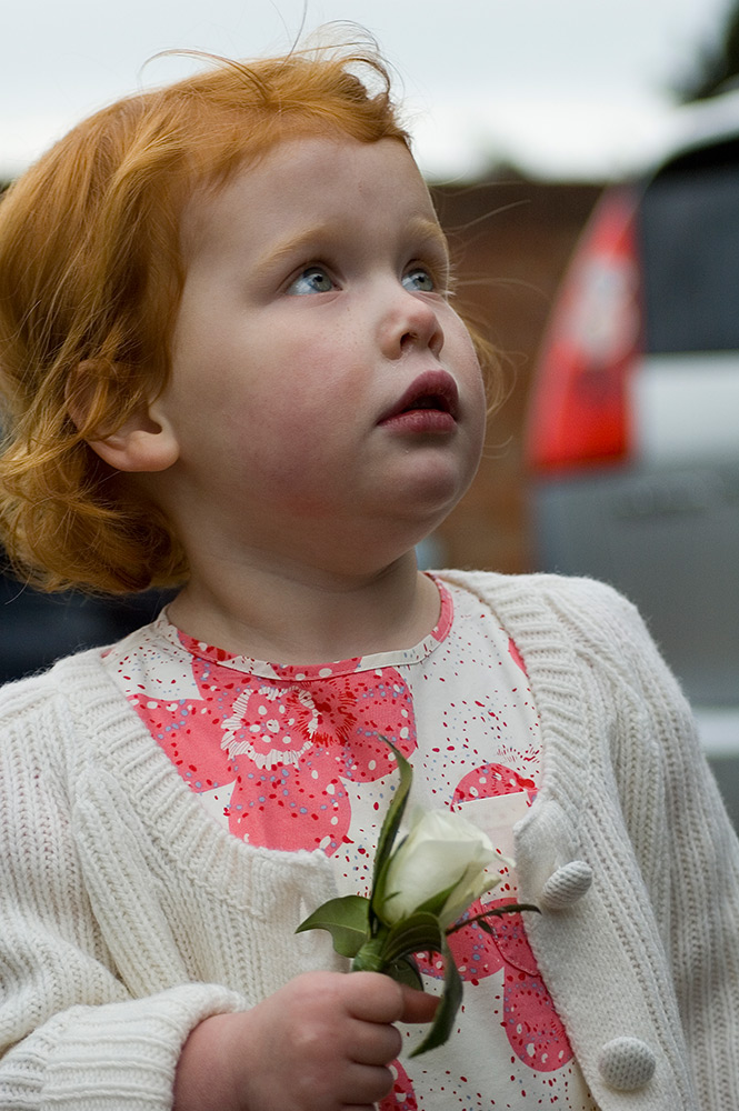 val carcary green girl with red hair wedding day