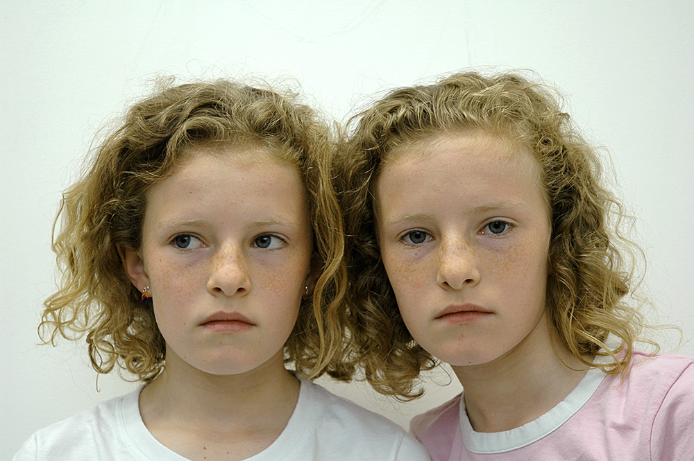 val carcary green twin girls one looking sideways