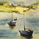 novusartstudio eva davy watercolour copy harbour scene