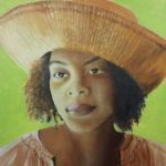 novusart studio Ann Leonard girl in straw hat