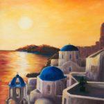 novusart-studio-sandra-kidd-santorini-sunset